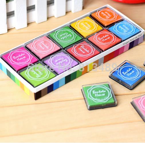 Aliexpress Buy 20 Colors Diy Ink Pad Wedding Stamps