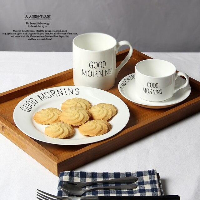 Famosos Bom dia, café da manhã do prato, para cookie & bife, frete grátis  KW04