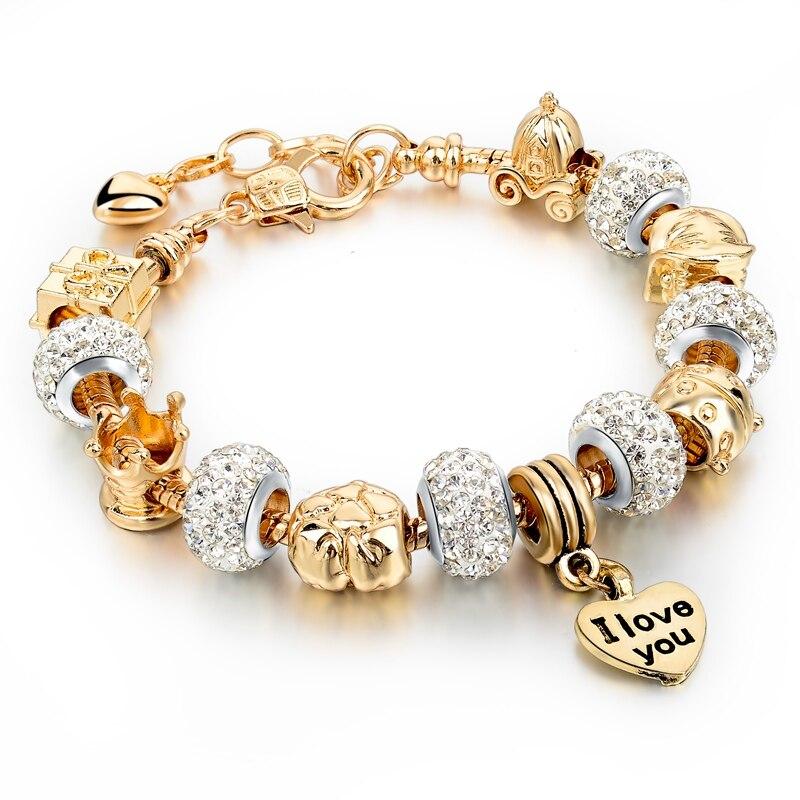 heart charm bracelet by pulsera