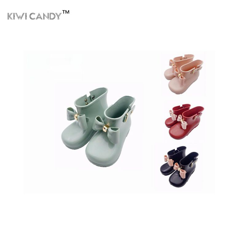 kids shoes cream smell girls rain Boots baby todder 1-8year kids Bow adorable girls fashion boots non slip water shoes Sapato