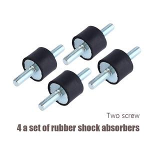 Image 3 - 4 stuks Dubbele Buitendraad Rubber Schokdempers Anti Trillingen Silentblock Boot Auto Spoel Schokdemper Gereedschap M3 M4 M6 m8