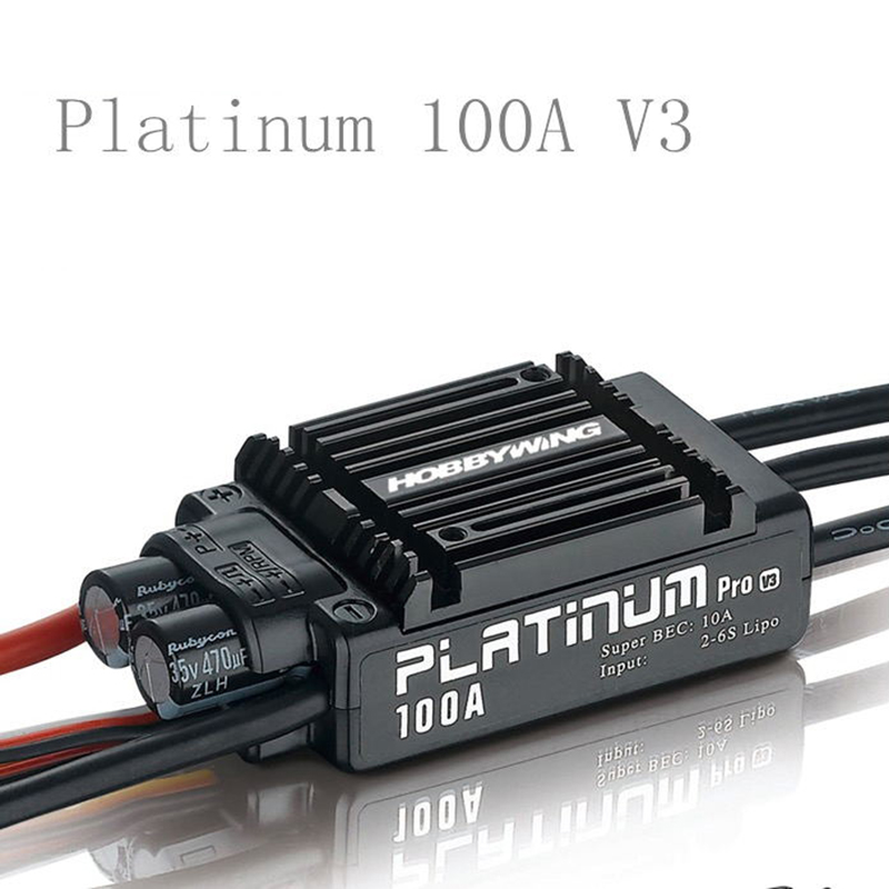 Original Hobbywing Platimum 50A 100A V3 RC Brushless ESC Electronic Speed Controller ESC for Helicopter Airplane Drone Fixed-win 1pcs original hobbywing platinum 100a v3 rc model brushless esc for multicopter for align trex 550 600 700 rc helicopter fixed w
