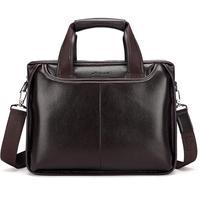 2018 Men Casual Briefcase Business Shoulder Bag Messenger Bag Men's Briefcase Leather Handbag Bag Laptop Bag