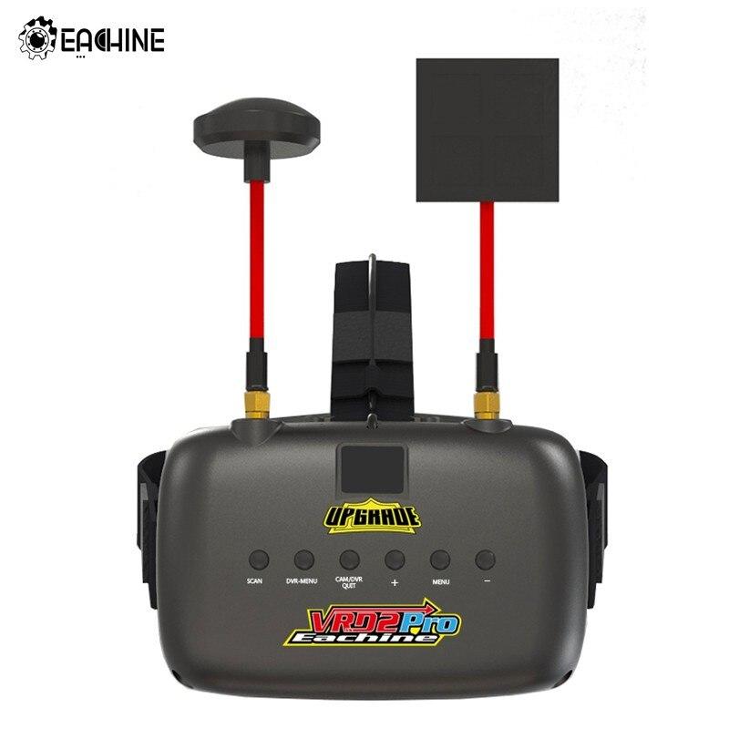 Original Eachine VR D2 Pro 5 นิ้ว 800*480 40CH 5.8G ความหลากหลาย FPV Goggles w/DVR เลนส์ปรับ VS Eachine EV800D-ใน ชิ้นส่วนและอุปกรณ์เสริม จาก ของเล่นและงานอดิเรก บน   1