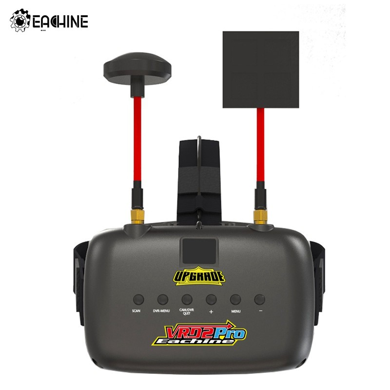 Original Eachine VR D2 Pro 5 Inches 800*480 40CH 5.8G Diversity FPV Goggles w/ DVR Lens Adjustable VS Eachine EV800D in stock eachine ev800d 5 8g 40ch diversity fpv goggles 5 inch 800 480 video headset hd dvr build in battery vs fatshark aomway
