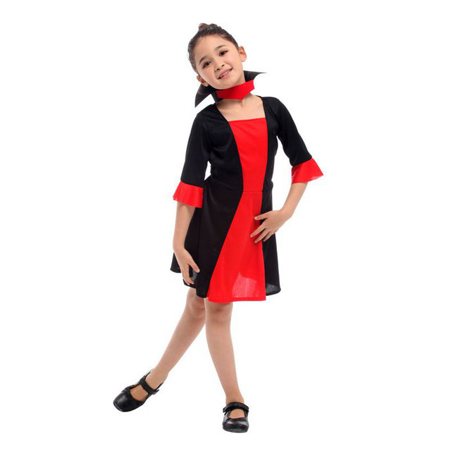 Umorden New Kids Girls Vampiress Dresses Child Red Vampire Girl Cosplay  Halloween Christmas Purim Party Costume Fancy Dress d009c65bcd66