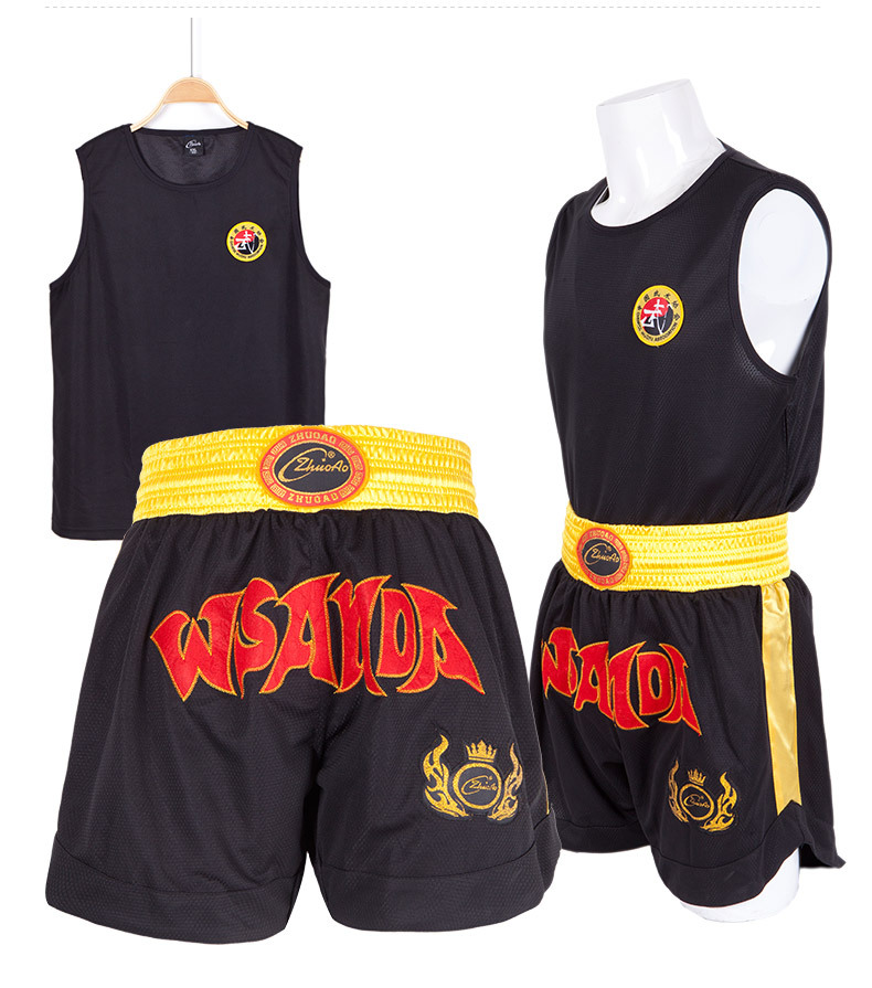Sports & Entertainment Boxing Jerseys Wesing Professional Muay Thai Suits T-shirt Shorts Muay Thai Boxing Uniform Mma Training Competition Clothes Large Size