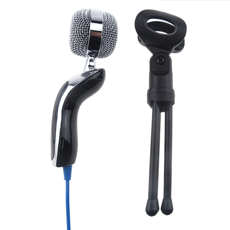 New Arrival SF-922 Sound Recording MIC Desktop Microphone with 3.5mm Plug For Laptop / Computer Black