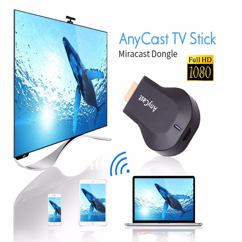YIKIXI HDMI TV Stick Wireless TV Dongle M2plus Airplay WiFi Display Receiver Miracast for Phone Android