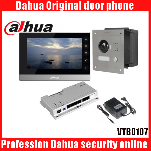 Original 7 Inch Touch Screen Dahua DHI-VTH1550C Color Monitor with TO2000A outdoor IP Metal Villa Outdoor Video Intercom sysytem 7 inch video doorbell tft lcd hd screen wired video doorphone for villa one monitor with one metal outdoor unit night vision
