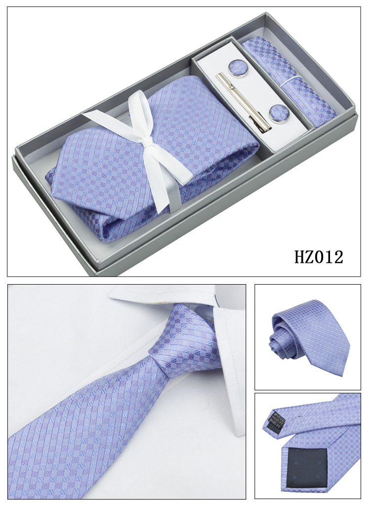 4M8-2 Lilac Ties Set Plaid