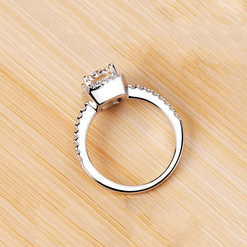 ZN Fashion Rings Show Elegant Temperament Jewelry Womens Girls White Silver Filled Wedding Ring 9