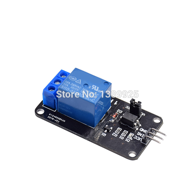 10pcs/lot 5V 1 Channel Relay Module Shield AVR ARM PIC DSP SRD-05VDC-SL-C