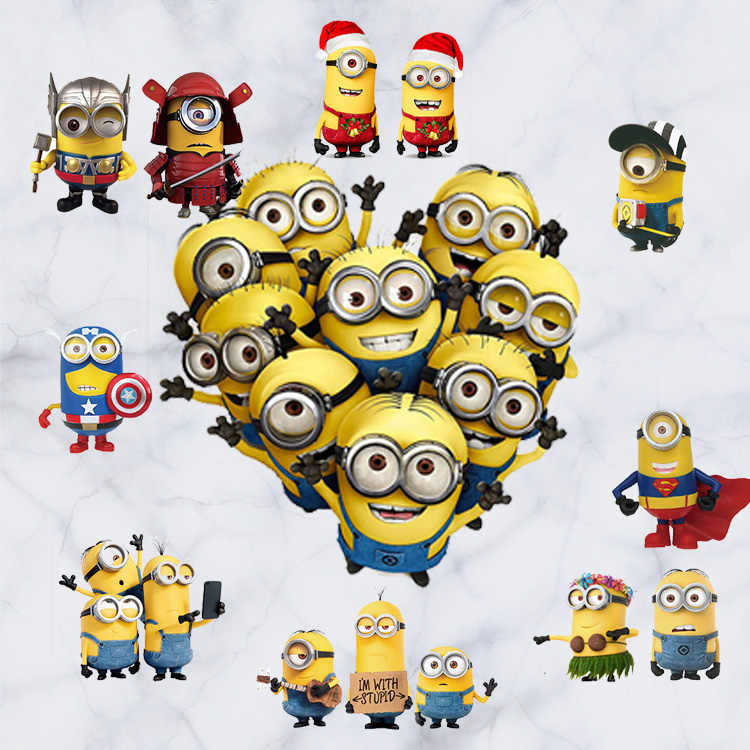 Cosplay Captain America Despicable Me Minions Muurtattoo Stickers Decor Universal Studios Film Gratis Verzending D079