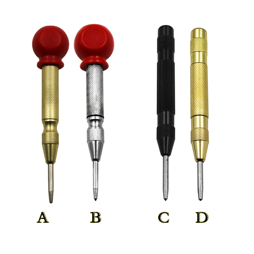 High Speed Steel Automatic Center Punch With Grip Cap Locator Semi-automatic Center Punch For Car Glass Breakers Center Drilling