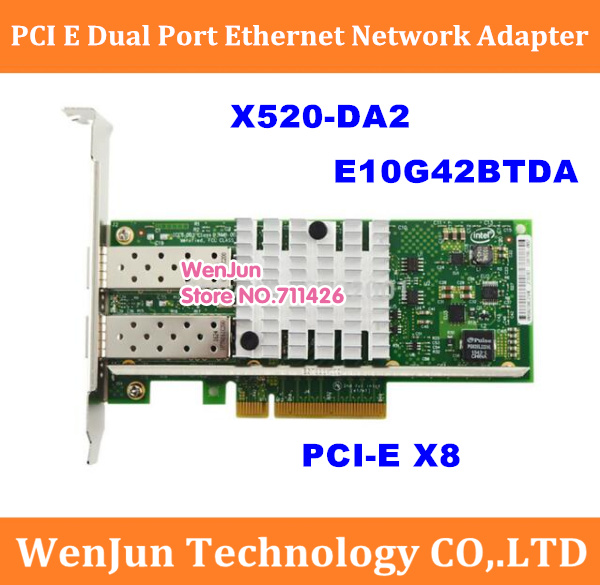 X520-DA2 10GBase PCI Express X8 82599ES Chip Dual Port Ethernet Network Adapter Support X16, E10G42BTDA,SFP Not Included