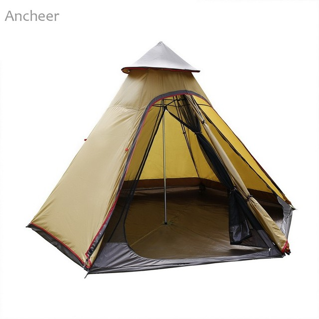 Ancheer New c&ing tent Oxford 7-8 Person Pyramid Tent Waterproof Tent Groundsheet with Shade  sc 1 st  AliExpress.com & Ancheer New camping tent Oxford 7 8 Person Pyramid Tent Waterproof ...