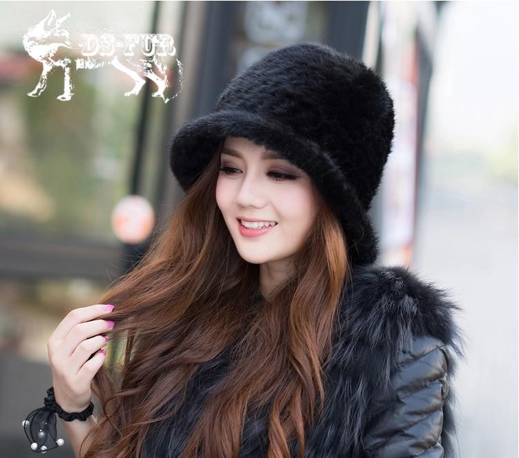 Weave real mink fur hat09