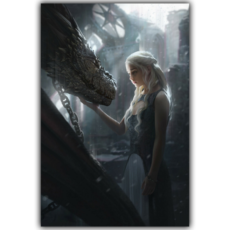 Game Of Thrones Video Games Bedroom Home Decoration Silk Fabric Canvas Poster Print Yx1341 China
