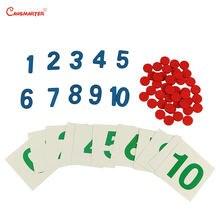 Математические Игрушки с цифрами 1 10 пазлов Домашняя версия