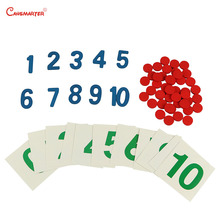 Number Practice Math Toys 1-10 Puzzles Home Version With Cards Montessori Materials for Children House Teaching MA07-JZ3