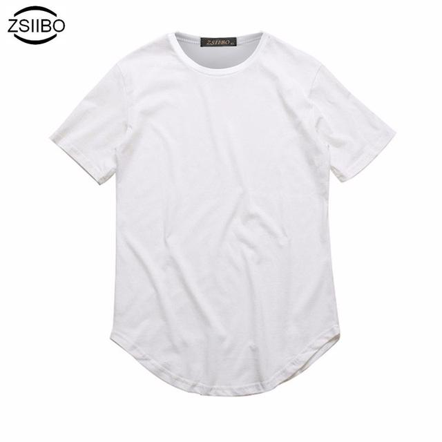 Extended Long Neck T-Shirt Men Curved