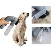 Electric pet sucker Pet Hair Vacuum Removal Fur Suction Grooming Device Pets Dog Portable Pets MassageCleaner For Dogs(China)
