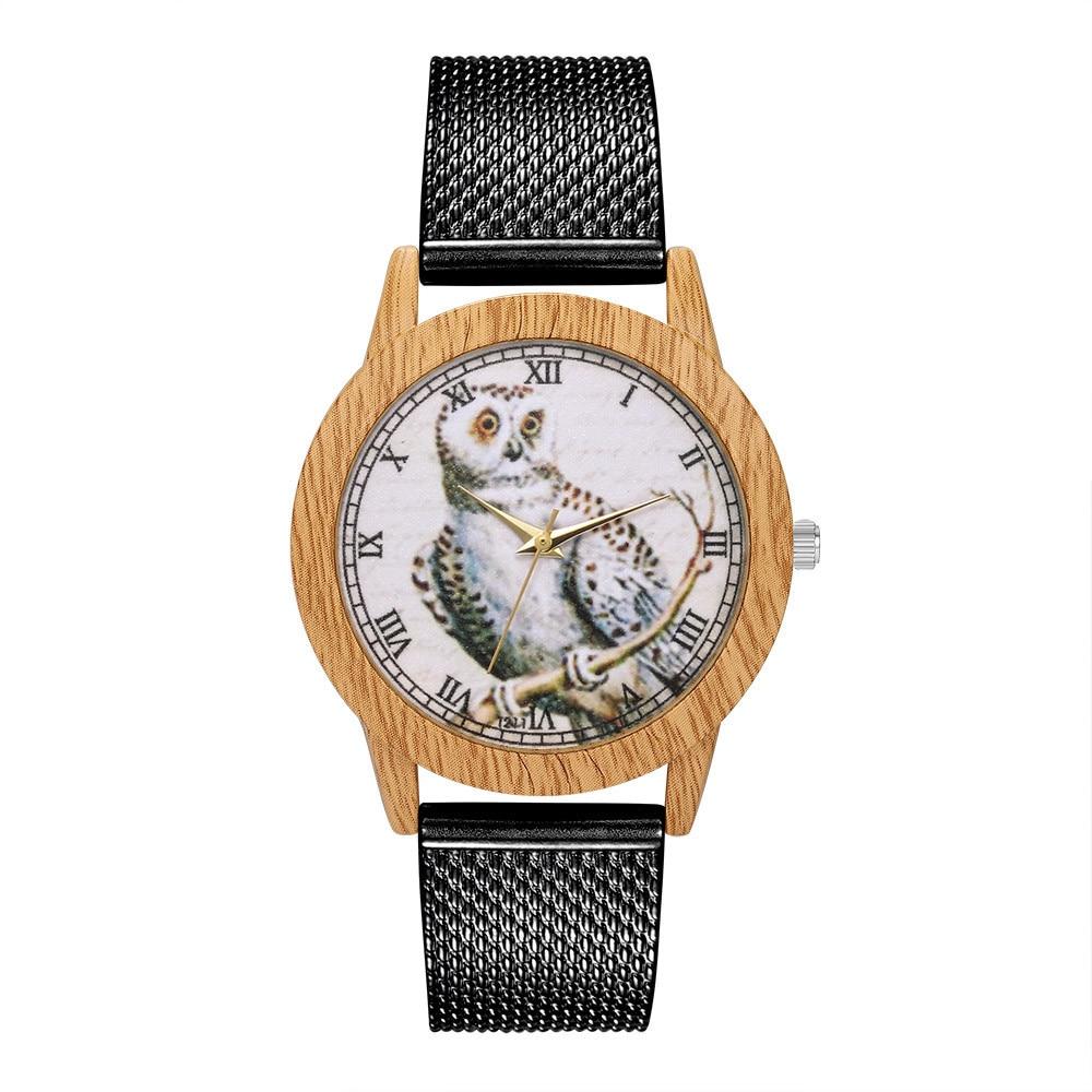 Rose Gold Watch Women Quartz Watches Ladies Top Brand Owl Print Luxury Female Wrist Watch Girl Clock Relogio Feminino 1