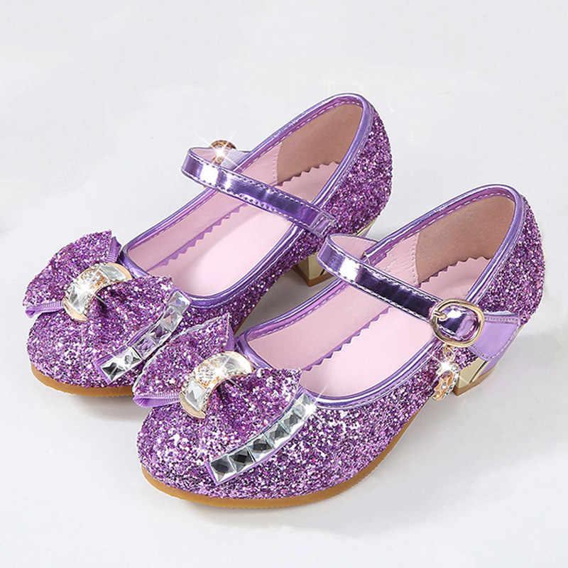 5 Màu Sắc Trẻ Em Giày Sandal Trẻ Em Bé Gái Cưới Giày Cao Gót Đầm Giày Bowtie Vàng Giày Cho Bé Gái