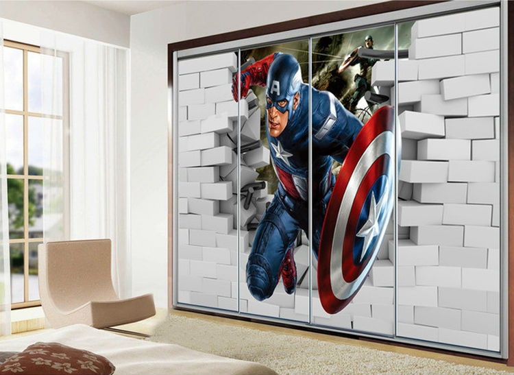Cool Wall Murals wall paper picture - more detailed picture about 3d captain
