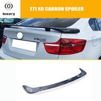 E71 E71 X6 X6 Fibra De Carbono Traseiro Trunk Spoiler para BMW 2008 2009 2010 2011 2012 2013 HM Estilo