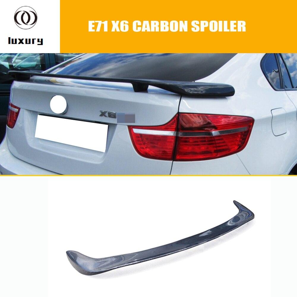 E71 X6 Carbon Fiber Rear Trunk Spoiler for BMW E71 X6 2008 2009 2010 2011 2012 2013 HM Style|Spoilers & Wings| |  - title=