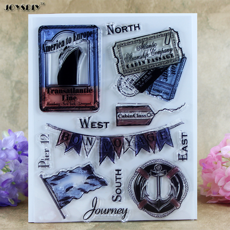 Shipping Journey Bonvoyage Scrapbook DIY photo cards account rubber stamp clear stamp transparent stamp card Stamper 18*14.5CM spider texture background scrapbook diy photo cards account rubber stamp clear stamp transparent stamp handmade card stamp