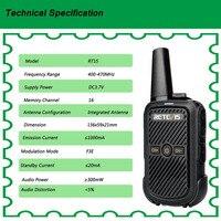 מכשיר הקשר 2pcs Retevis RT15 מיני מכשיר הקשר נייד USB שני הדרך רדיו תחנת UHF VOX טעינה משדר Communicator ווקי טוקי (4)