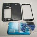 Белый Черный Полный Жилищно Ближний Рамка Рамка и двери Батареи Case и Стекло экрана Замена для Samsung Galaxy Note 2 II N7100