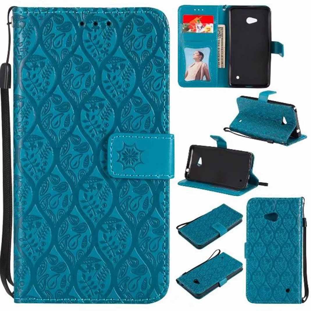 MuTouNiao синий кожаный флип чехол из ротанга для Nokia Lumia 3 5 6 550 630 635 640 650 3310 2G - 11.11_Double