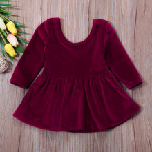 Baby Girl Clothes Long Sleeve Pleuche Dresses 0-24M