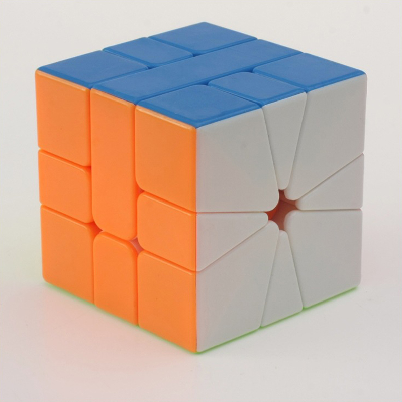 Candy Color SQ-1 Magic Cube Puzzle Professional Puzzle autocolant Cube Speed ​​Magico cubo Jucarii educative pentru copii (C5