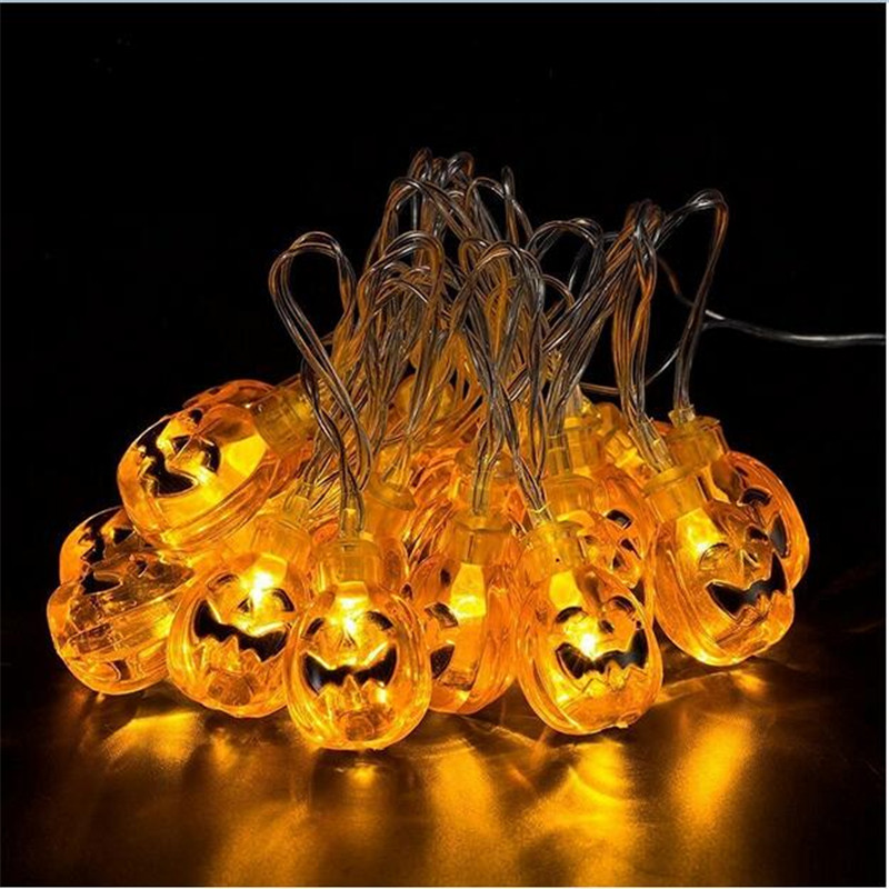 20LEDs Pumpkin LED String Light 4M AC220V 3D Plastic Pumpkin Lights Halloween Holiday Decoration Lanterns