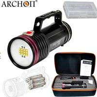 ARCHON D100W II CREE XM L2 U2 10000 люмен светодиодный фонарик Дайвинг Водонепроницаемый Дайвинг факел с аккумулятор и зарядное устройство