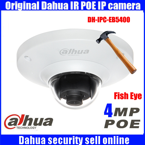 Dahua DH-IPC-EB5400 4 MP Full HD PoE WDR Panorama 360 Degree Fisheye Dome Network IP Camera built-in MIC support SD card dahua ip camera dh ipc hfw5421b full hd