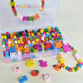 Kids Beads Educational Toys For Girls DIY Beads Jouet Mixed Wooden Beads Puzzle Toys Jewelry Necklace Bracelet  Kit Block Toy