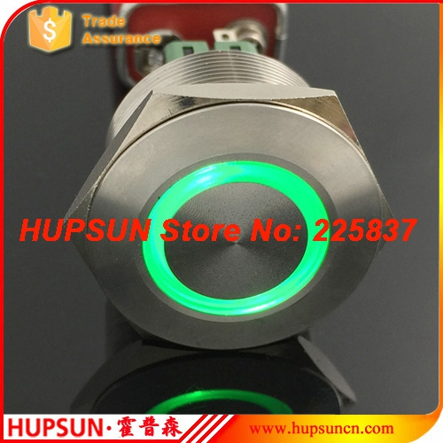 2pc waterproof 12v 24v 28mm 304 stainless steel latching push button switch starter locking lock pushbutton switch