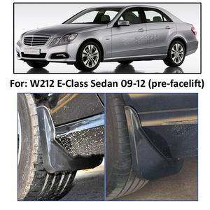 Image 5 - Mud Flaps For Benz E Class W212 E300 E350 E550 E500 E280 E200 2008   2013 Splash Guards Mudguards Front Rear 2009 2010 2011 2012