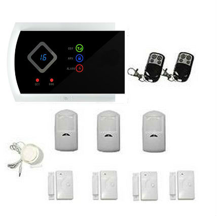 IOS Android APP English Russian Spanish Italian Slovak GSM Wireless Home Burglar Security Alarm System PIR Motion Door Window