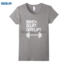 GILDAN Bench. Squat. Deadlift. Exercise Workout Tee Shirt
