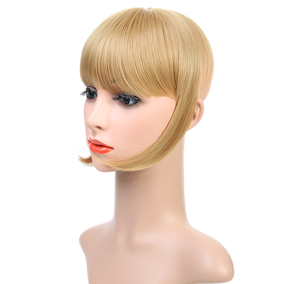 Closeout Jinkaili Wig Straight Natural Bangs Clip In On Synthetic