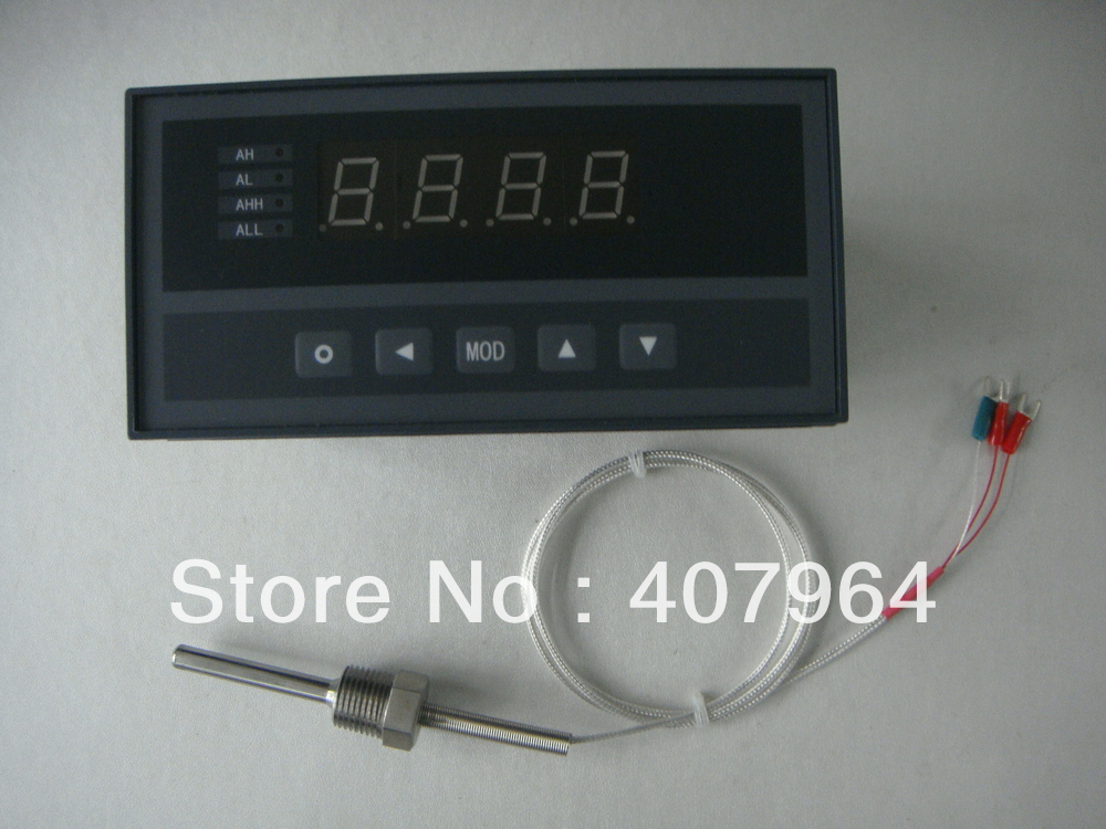 XST Pt100 Temperature Indicator With 220V Power Supply Including Pt100 Sensor