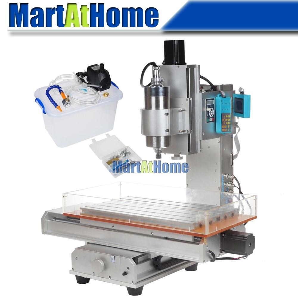 Tavolo per macchina da incisione CNC ad alta precisione 1.5KW 3 assi 3040 Argedo 110 V / 220 V CA con inverter VFD 1500 W e LCD # SM711