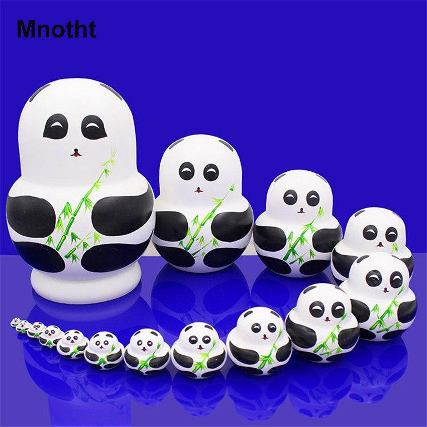 Mnotht 15 couches de tilleul sec russe poupées de nidification de haute qualité en bois matriochka poupées bricolage jouets éducatifs L30